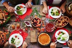 感恩宴餐 免版税图库摄影
