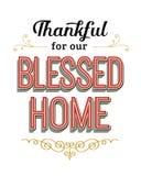感激为我们的保佑的家 向量例证