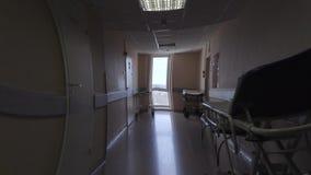 感觉的作用不适在医院走廊 视觉幻觉 股票视频