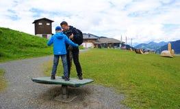 感觉的山在阿尔卑斯山的 免版税库存图片