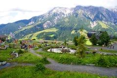 感觉的山在阿尔卑斯山的 免版税库存照片