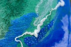 感觉的蓝绿色抽象背景 免版税库存图片