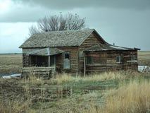 感谢在大草原的小的棚子 免版税库存图片