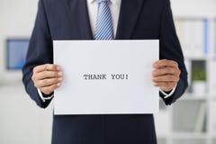 感谢您的参观 免版税库存照片
