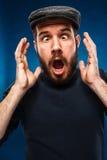 愤怒和叫喊的人 免版税库存照片