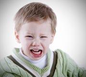 愤怒小孩 库存图片