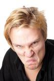 愤怒的人年轻人 免版税库存图片