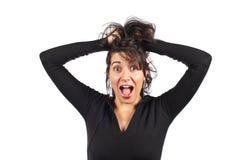 愤怒的偶然妇女 图库摄影