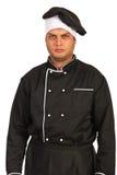 愤怒的厨师男性 库存照片