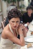 愤怒的夫人 免版税图库摄影