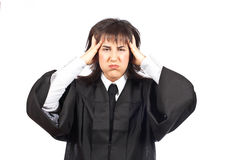 愤怒的女性法官 免版税图库摄影