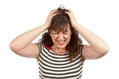 愤怒的妇女年轻人 库存照片