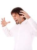 愤怒的生意人 免版税库存照片
