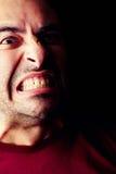 愤怒的男性人 免版税库存照片