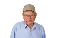 愤怒的男性前辈 免版税库存照片