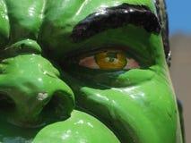 愤怒的眼睛的妖怪 免版税库存图片