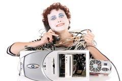 愤怒的计算机 库存图片