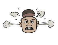 愤怒的面孔乱画 免版税库存照片
