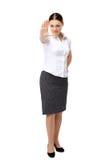 愤怒符号信号终止妇女 免版税图库摄影