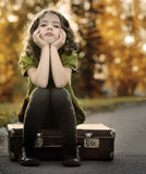 愤懑的女孩 免版税库存图片