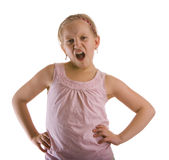 愤概的女孩 图库摄影