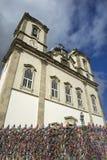 愿望丝带著名Bonfim教会萨尔瓦多巴伊亚巴西 免版税库存照片