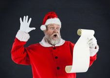 读愿望的圣诞老人 免版税图库摄影