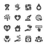 慈善和捐赠象设置了5,传染媒介eps10 向量例证