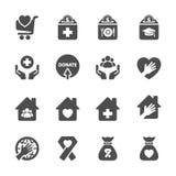 慈善和捐赠象设置了9,传染媒介eps10 库存例证