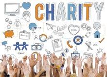 慈善帮助给关心希望捐赠概念 图库摄影