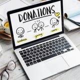 慈善捐赠筹款的非盈利志愿概念 免版税库存照片
