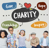 慈善给协助关心志愿者支持概念 图库摄影