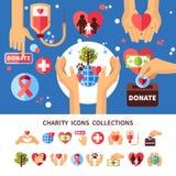 慈善infographic集合 向量例证