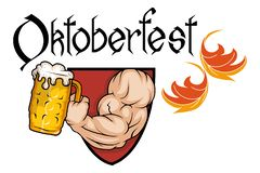 慕尼黑啤酒节手拉的字法 库存例证