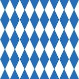 慕尼黑啤酒节方格的背景和巴法力亚旗子样式 库存例证