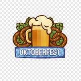 慕尼黑啤酒节节日商标,动画片样式 皇族释放例证