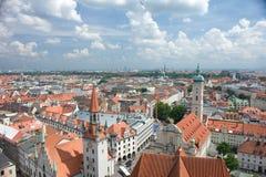 慕尼黑屋顶 免版税库存照片