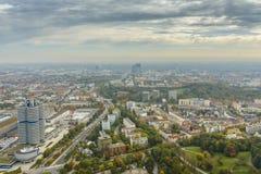 慕尼黑都市风景 库存照片
