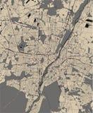 慕尼黑,巴伐利亚,德国的地图  皇族释放例证