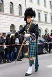 慕尼黑,巴伐利亚,德国- 2016年3月13日:traditiona的人们 免版税图库摄影