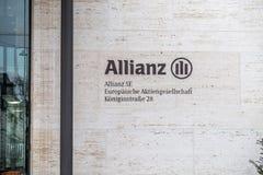 慕尼黑,德国- 2018年2月16日:安联总部位于市慕尼黑,德国 免版税库存图片