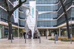 慕尼黑,德国- 2018年2月16日:新的西门子总部大厦在市慕尼黑安置 库存照片