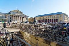 慕尼黑,德国- 2017年10月20日:最大的国家戏院 免版税库存照片