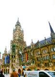 慕尼黑,德国- 2017年5月02日:著名老市政厅在德国的慕尼黑 图库摄影
