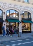慕尼黑,德国- 2017年10月20日:金银手饰店Herbe的标志 免版税库存照片