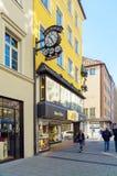 慕尼黑,德国- 2017年10月20日:金银手饰店J的标志 B 免版税库存照片