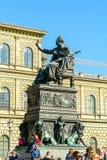慕尼黑,德国- 2017年10月14日:马克西门科Jo国王雕象  库存照片