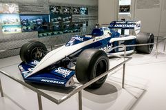 慕尼黑,德国- 2016年3月10日:BMW Sauber队一级方程式赛车汽车在BMW鞭痕博物馆在慕尼黑,德国 免版税图库摄影