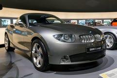 慕尼黑,德国- 2016年3月10日:BMW x在BMW鞭痕的类小轿车显示在慕尼黑,德国 免版税库存照片