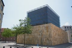 慕尼黑,德国-犹太博物馆和犹太教堂在慕尼黑 免版税图库摄影